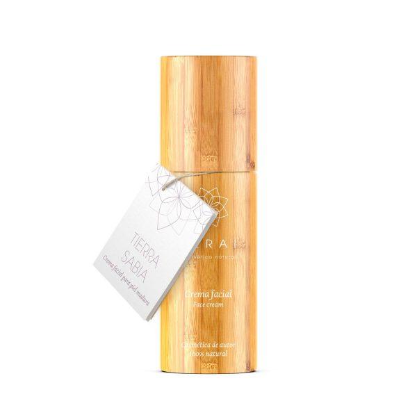 Crema facial antiarrugas para piel madura elaborada en Terai cosmetica natural y de venta en tienda online y tienda fisica en Bilbao