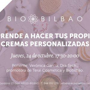 Talleres y charlas en Terai cosmetica natural en Bilbao