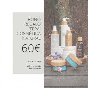 bono regalo de 60 € de Terai Cosmética para su uso en tienda online o en tienda física en Bilbao